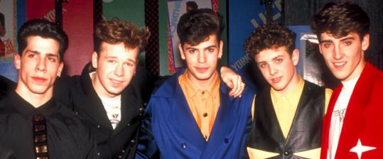 The New Kids on the Block - (from left) Danny Wood, Donnie Wahlberg, Jordan Knight, Joey McIntyre, and Jonathan Knight - in 1991.