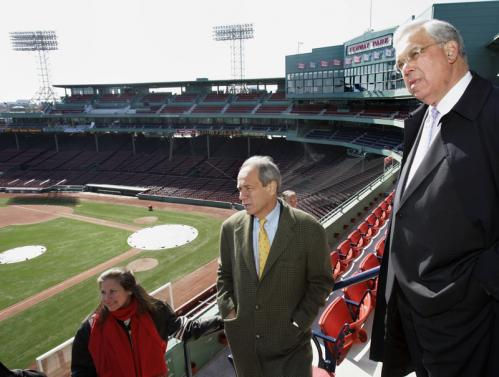 Red Sox vice president of planning and development Janet Marie Smith and president Larry Lucchino on Thursday took the media and Boston Mayor Thomas Menino on a tour of the recent renovations of Fenway Park. ALSO: Hawk attacks girl at Fenway