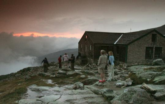 Lakes of the Clouds Hut, on Mount Washington, is one of the AMC's highest and most popular.