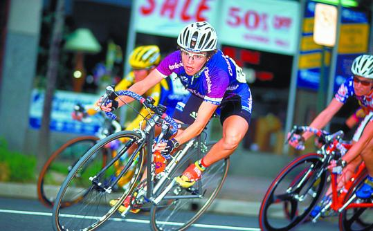 Nicole Freedman, Boston's top bicycling official, pedals through Arlington, Va., in a 2000 contest. She was a professional racer from 1994 to 2005, and competed in the 2000 Olympics.