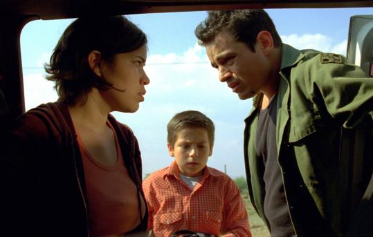 Adrian Alonso (center, with America Ferrera and Jesse Garcia) plays a 9-year-old Mexican boy who goes to LA to search for his illegal immigrant mother.