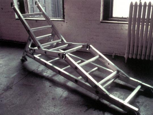 In 1997, Vito Acconci's 'Ladder Lounge Chair' fit into the curators' themes of home, family, and the desire for security.