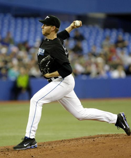 Roy Halladay started for the Blue Jays.