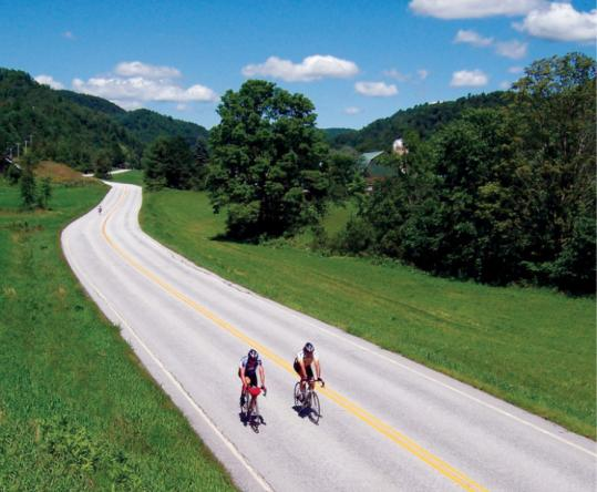 Vermonters are used to the ups and downs of the Green Mountain State, but cyclists come from all over to enjoy them.