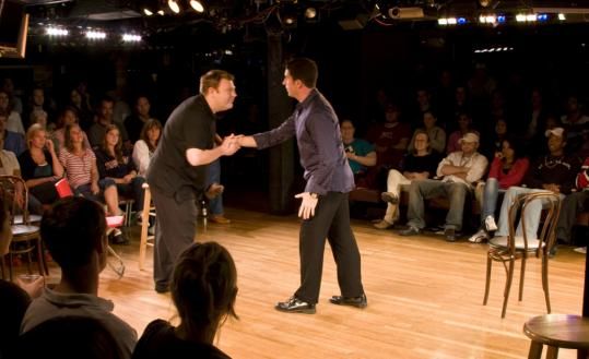 Jeremy Brothers (left) and Michael Anastasia are part of the 'You Wrote It, LIVE' cast.