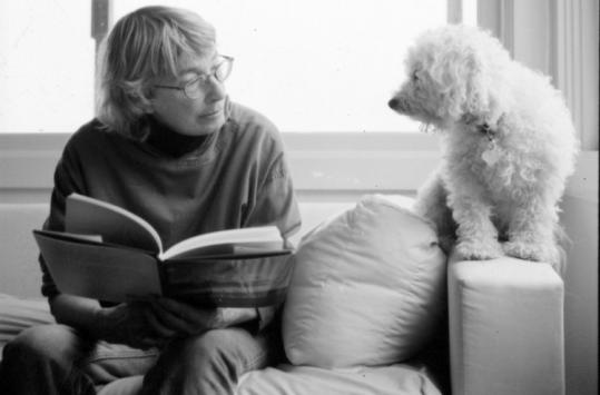 In her new book, poet Mary Oliver expresses gratitude for her dog, Percy.