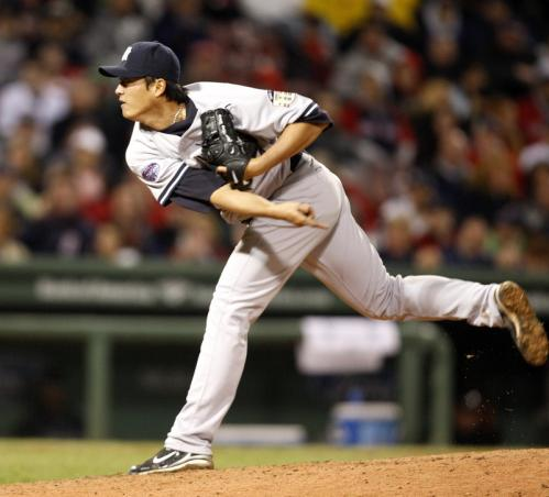 Yankees pitcher Chien-Ming Wang was on his game, pitching a complete game gem.