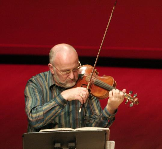 The violin work of John Holloway (seen here in 2006) was showcased on Jean-Marie Leclair's Op. 5 No. 4.