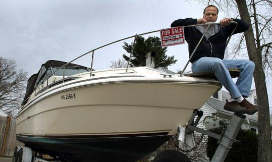 Martin Fernandes is selling his 26-foot Sea Ray because, he said, in times like these, having a boat isn't the best idea.