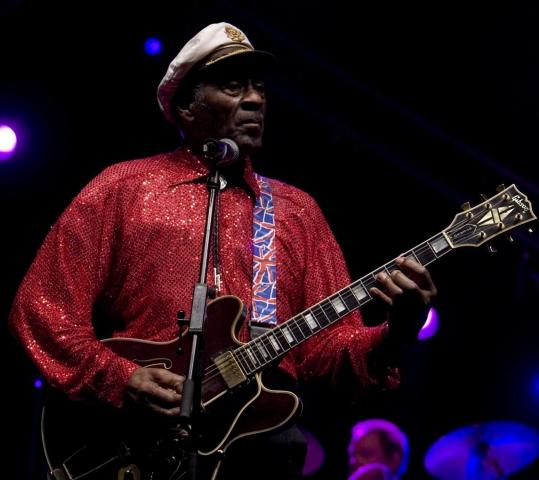 Chuck Berry (shown earlier this year) provided some nostalgic moments at Berklee on Sunday.