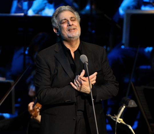 Placido Domingo sang at the Wang Theatre last night. His tour website shows only one US city at the moment: Boston.