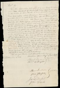 A letter that Waltham authorities sent to Continental Army Major General William Heath on Aug. 17, 1780, states Felix Cuff was a free man when he enlisted, and sanctions his return to service.