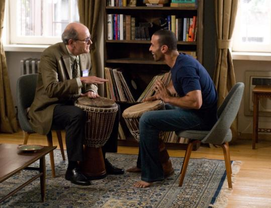 Richard Jenkins (left) plays a college professor and Haaz Sleiman is a Syrian musician in writer-director Thomas McCarthy's 'The Visitor.'