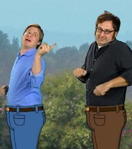 Tim Heidecker (left) and Eric Wareheim are preparing season three of 'Tim and Eric: Awesome Show, Great Job!'