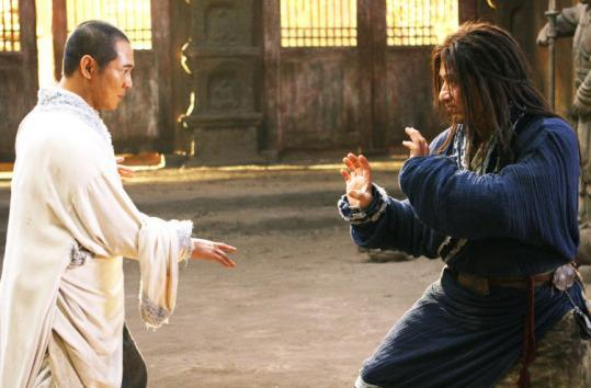 The very different styles of martial arts masters Jet Li (left) and Jackie Chan make the action sequences sing.