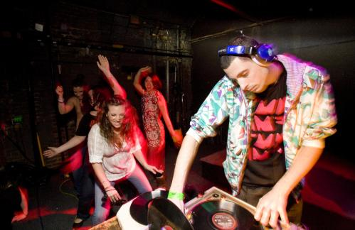 Get the party started: DJ Rok One of Brooklyn, NY, cued up a tune for his fans. It was his second trip up to Boston to play the weekly party, Rok One said. See more Hot Shots More info on Harpers Ferry SUBMIT Your nightlife photos! TALK What scene should we visit next?