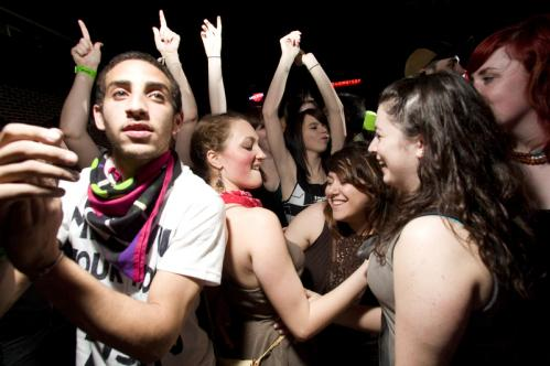 John Lavoi (left) cheered on the DJ while fellow Mass Art freshmen Karisa Gagnon, Juliana Gonzalez and Daisey Cushner danced at Paper Paper is an 'indie scene,' Lavoi said. 'It's not cliche.' See more Hot Shots More info on Harpers Ferry SUBMIT Your nightlife photos! TALK What scene should we visit next?