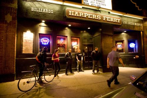 Paper — Harpers Ferry's weekly 18+ indie and dance party — has been packing in the hipsters for more than two years. On any given Thursday, Paper's Myspace page promises, you could hear anything from Human League to Snoop Dogg on the dance floor. Allston Rock City, indeed!