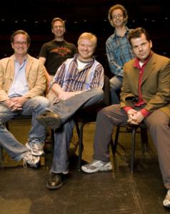 The Kids in the Hall (from left): Mark McKinney, Scott Thompson, Dave Foley, Kevin McDonald, and Bruce McCulloch.