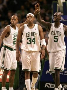 There was never any doubt about the talent of Ray Allen, Paul Pierce, and Kevin Garnett, but the three stars had to learn to work within (and around) each other's space, which was not always easy.