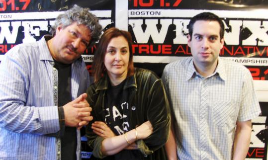 From left: news director Henry Santoro, DJ Julie Kramer, and program director Keith Dakin.
