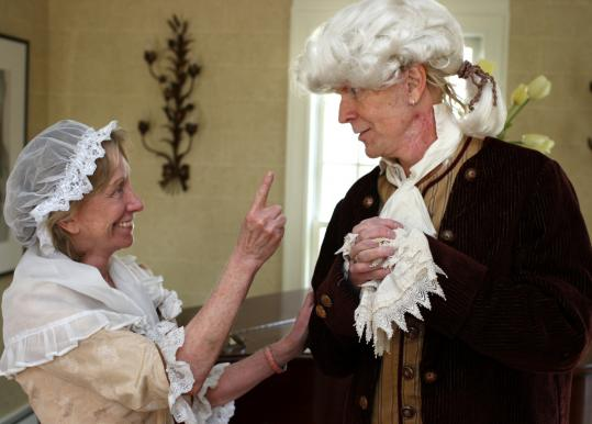 Historian Doris Kearns Goodwin and rocker Tom Hamilton as Abigail and John Adams.