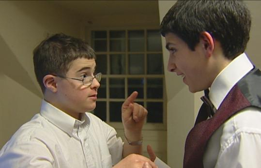 Lior Liebling (left, with brother Yoni), born with Down syndrome in a religious family, is the subject of a new documentary.