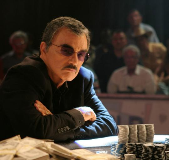 Burt Reynolds plays an ex-gambler who makes a young up-and-comer his poker protégé in 'Deal.'