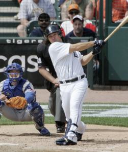 Magglio Ordonez tracks his fifth-inning home run, a three-run drive that followed his solo shot two innings earlier.
