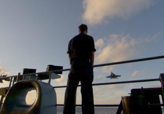 'Carrier,' a 10-hour documentary airing on PBS, was filmed aboard the USS Nimitz (above).