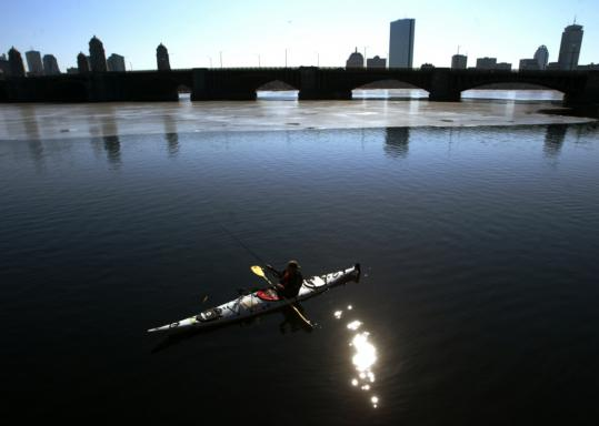 The EPA reports that the Charles River was safe for boaters 100 percent of the time in 2007.
