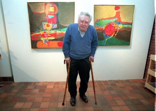 Albert Alcalay had his work displayed at the Jewish Community Center in Newton.
