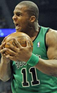 Glen Davis was in a foul mood in the first half after what he believed was a foul against him was not called.
