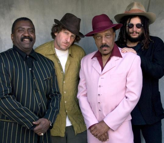 Don Was (right) with other members of the band, (from left) Harry Bowens, David Was, and Sweet Pea Atkinson.