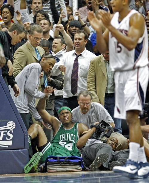 Late in the fourth quarter, after Celtics captain Paul Pierce tumbled out of bounds along the baseline, Atlanta's Al Horford applauds as the call went the Hawks' way, as did the game.