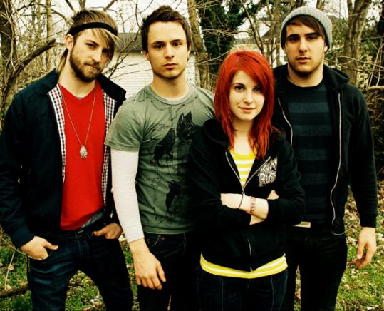 From left: Jeremy Davis, Josh Farro, Hayley Williams, and Zac Farro of the Tennessee quartet Paramore.