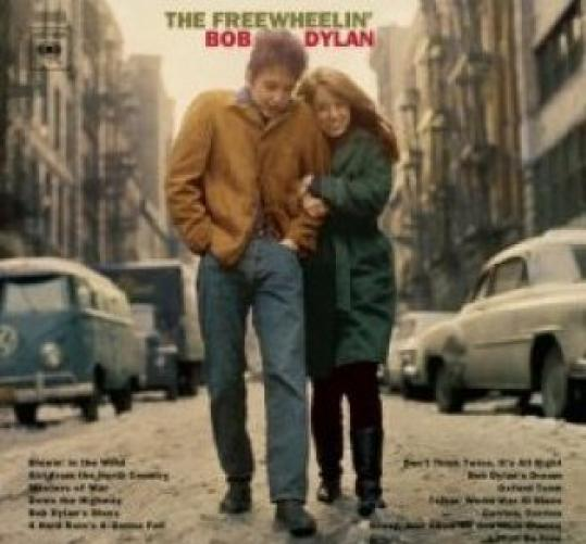 Suze Rotolo, with Bob Dylan on the cover of the 1963 album 'The Freewheelin' Bob Dylan.' She has written a memoir about their time together.