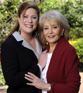 Barbara Walters (above with daughter Jackie Danforth) was born in Brookline. Her father owned a nightclub.