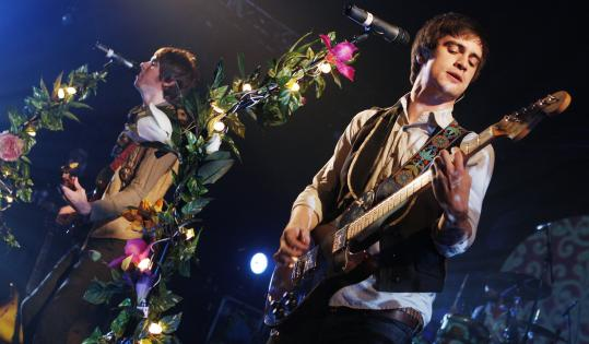 'We didn't expect or intend to alienate anybody. We just wanted to make a fun record,' says Brendon Urie (right with Panic at the Disco bandmate Ryan Ross).