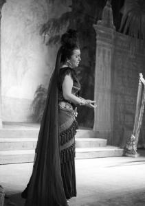 Leyla Gencer performed during Giuseppe Verdi's 'Aida.' Ms. Gencer was known as La Diva Turca, the Turkish Diva.