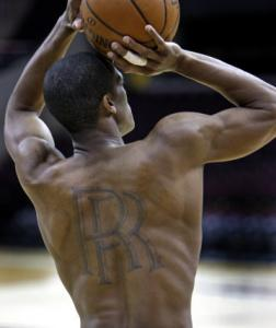 After some initial problems, Rajon Rondo is hoping to get untracked tonight.