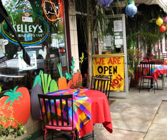 Kelley's No Bad Days Cafe is one of the restaurants favored by locals in the revitalized city.