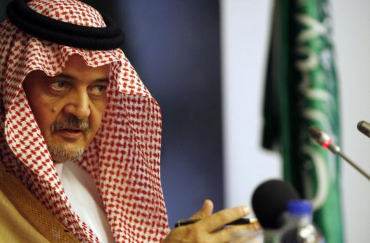 Saudi Arabia's foreign minister, Saud al-Faisal, told reporters that Iran's support of Hezbollah in Lebanon strains '[Iran's] relations with all Arab countries, if not Islamic states as well.'