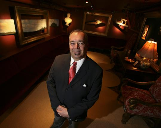 Michael Valvo, creative director/owner of Red M Studio, designed the Huntington Theatre Company's VIP Lounge.