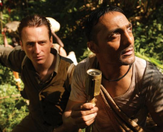 Linus Roache (left) and Rahul Bose as a British colonialist and his right-hand man.