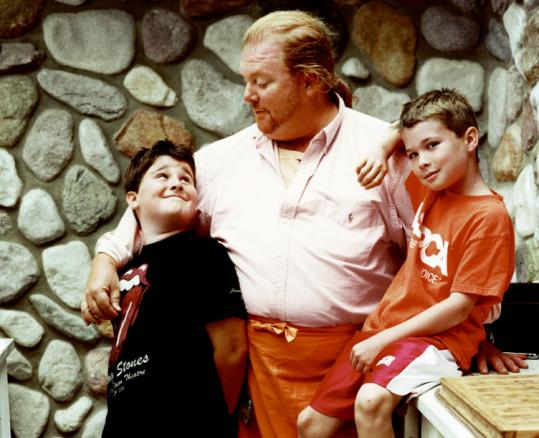 Mario Batali Logo. Mario and his sons ~ 2008