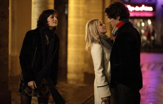 Clotilde Hesme (left), Ludivine Sagnier, and Louis Garrel are a threesome in 'Love Songs.'
