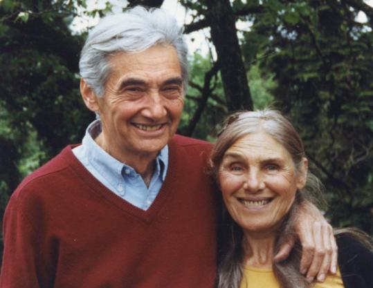 Roslyn Zinn, with her husband, Howard, a historian, author, and activist.
