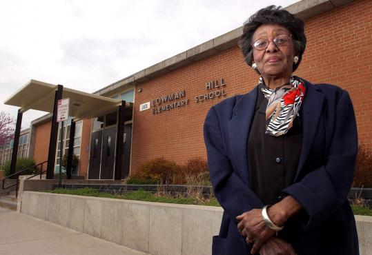 In 2004 Zelma Henderson visited Topeka's Lowman Hill Elementary School, where her children attended after the 1954 ruling. 'I wanted my children to know all races like I did,' she said.