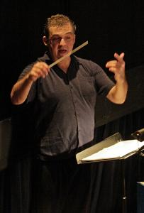 Mark Morris conducting Purcell's 'Dido and Aeneas' at the University of Illinois at Urbana-Champaign last spring.